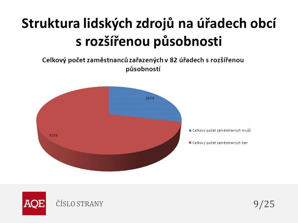 Struktura lidských zdrojů na úřadech obcí s rozšířenou působnosti ČÍSLO STRANY 9/25