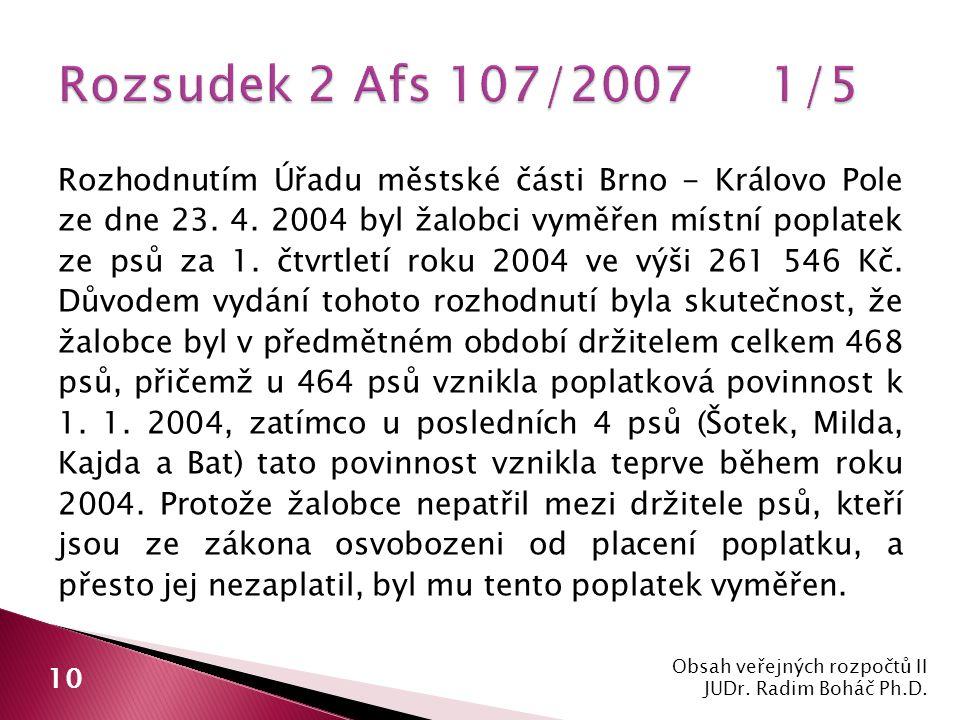 Rozhodnutím Úřadu městské části Brno - Královo Pole ze dne 23.