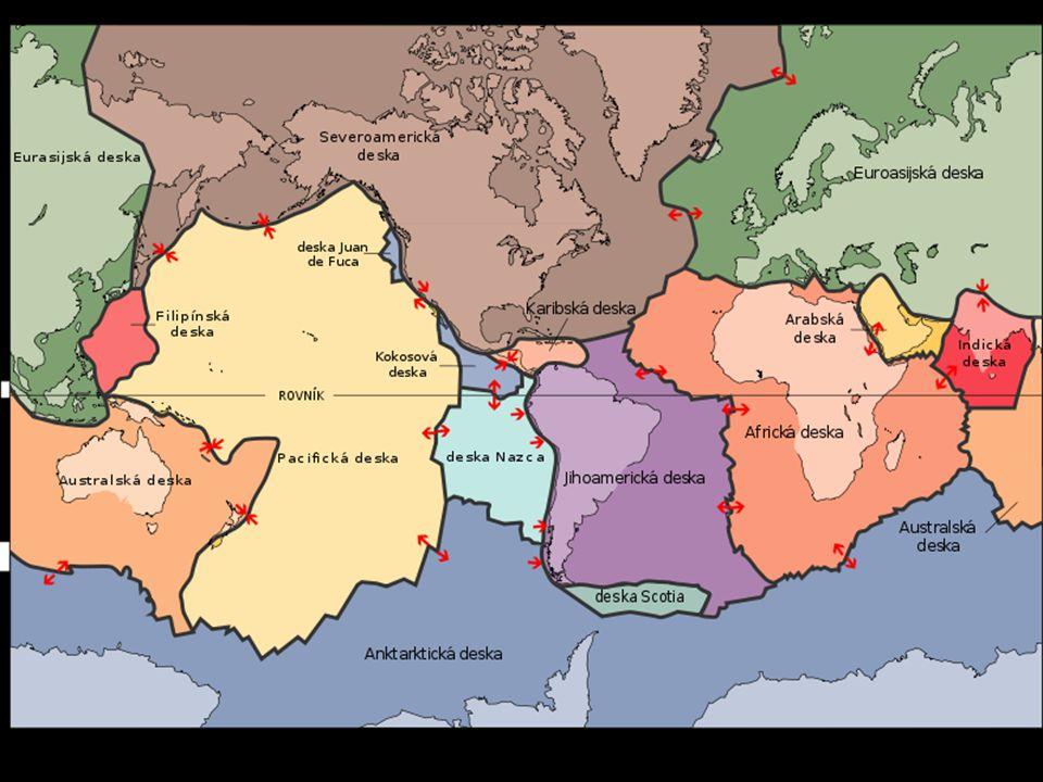 Které geologicky nejstarší části Asie nejsou na mapce vyznačeny?