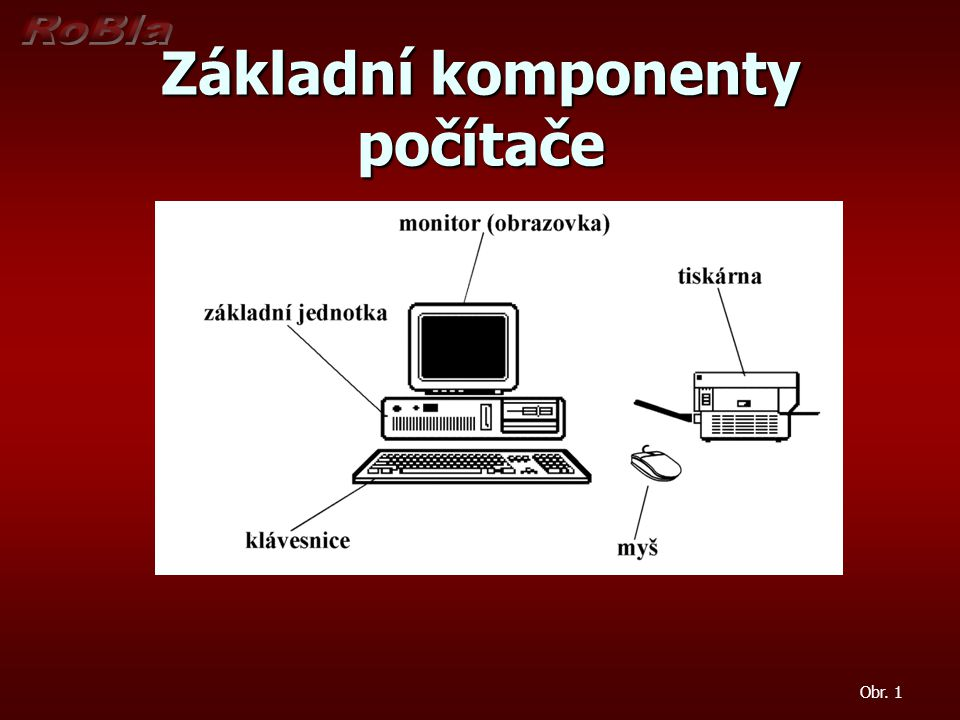 Základní komponenty počítače Obr. 1