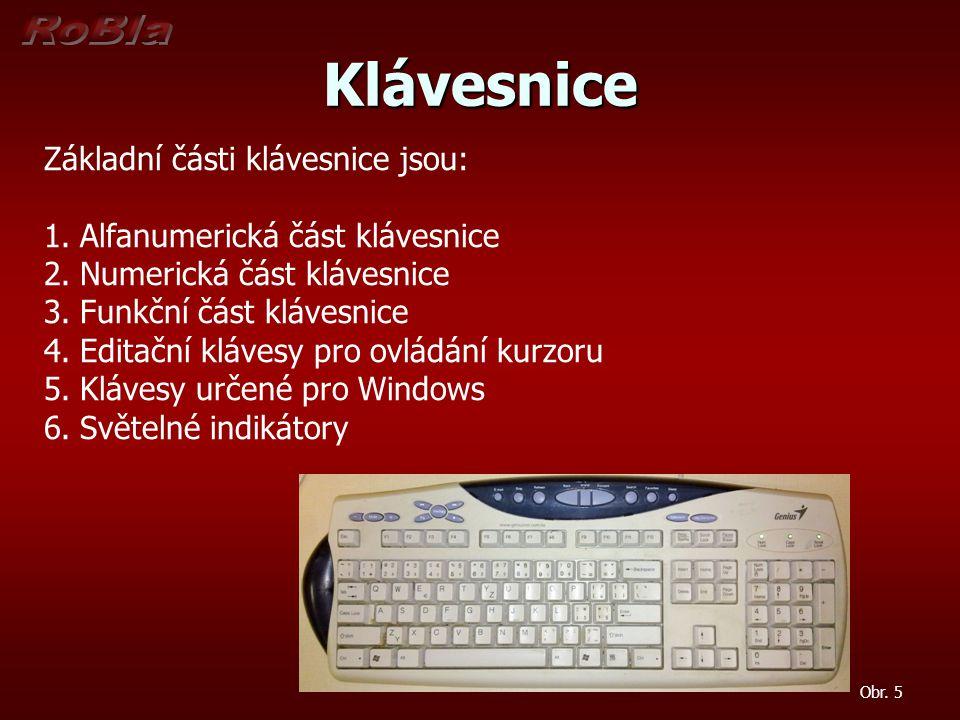 Klávesnice Obr.