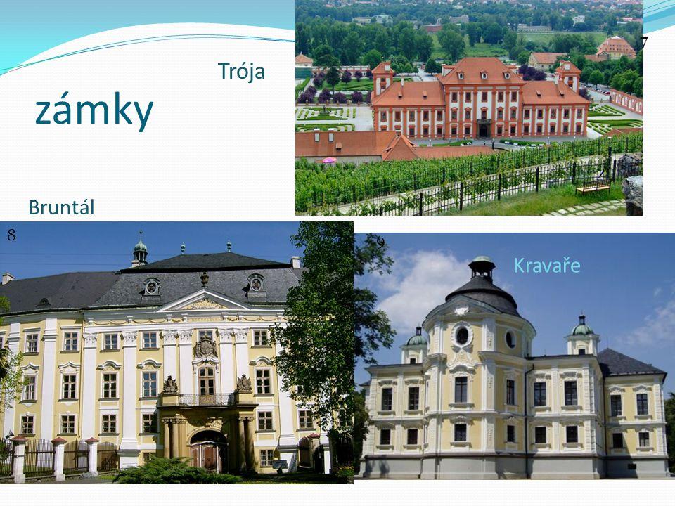města Valdštejnský palác v Praze Morový sloup v Olomouci 10 11