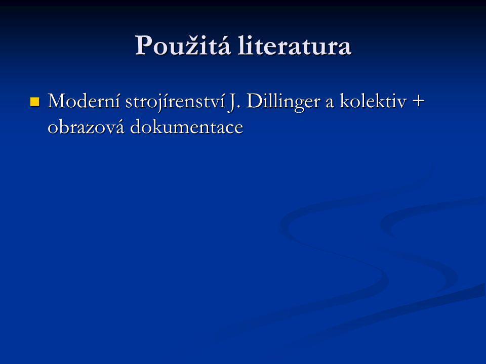 Použitá literatura Moderní strojírenství J.
