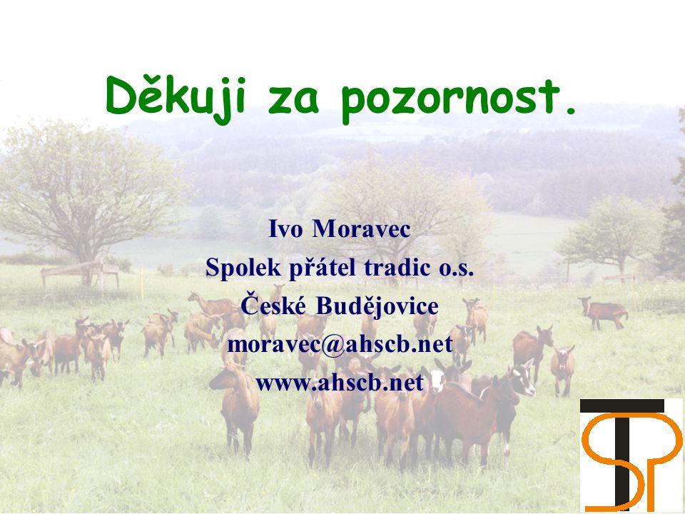 Děkuji za pozornost. Ivo Moravec Spolek přátel tradic o.s.