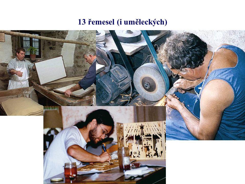 13 řemesel (i uměleckých)