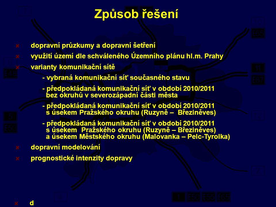 dopravní průzkumy a dopravní šetření využití území dle shváleného Územního plánu hl.m.