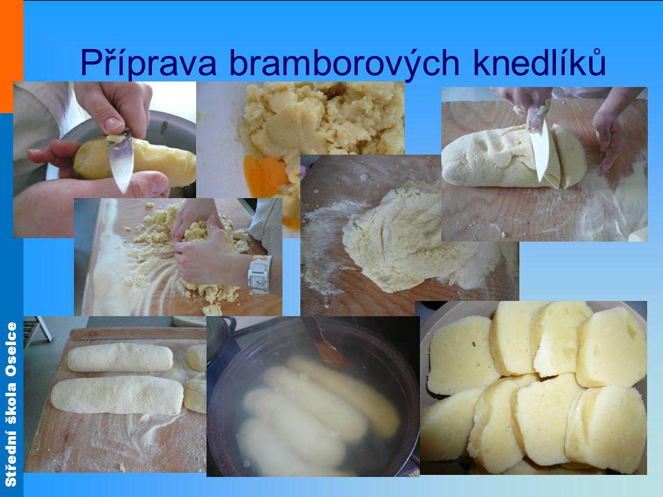 Střední škola Oselce Bramborové krokety 1 Ve slupce uvařené brambory necháme vychladnout a oloupeme.