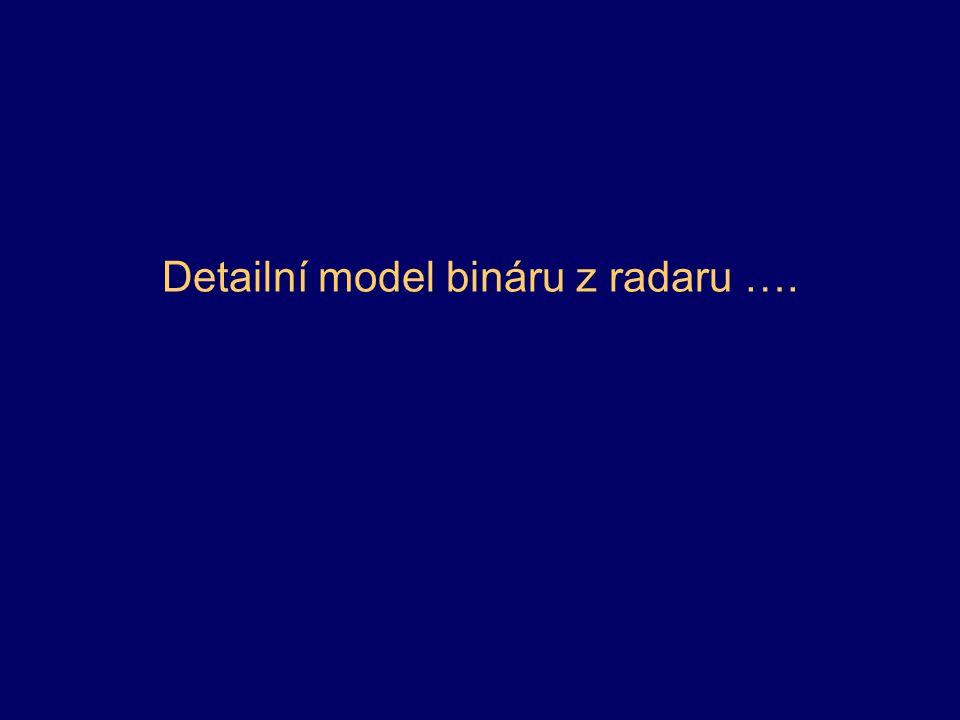 Detailní model bináru z radaru ….