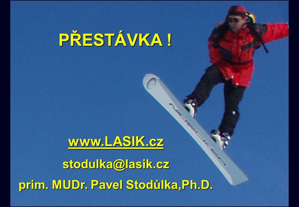 PŘESTÁVKA ! PŘESTÁVKA ! www.LASIK.cz stodulka@lasik.cz prim. MUDr. Pavel Stodůlka,Ph.D.