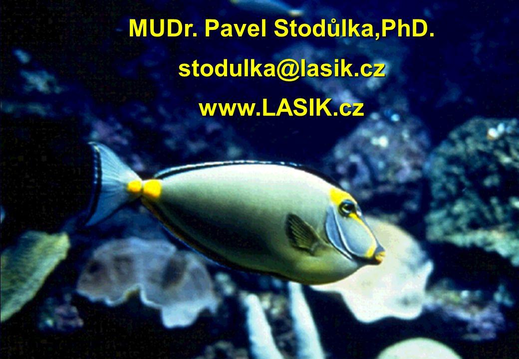 MUDr. Pavel Stodůlka,PhD. stodulka@lasik.cz www.LASIK.cz