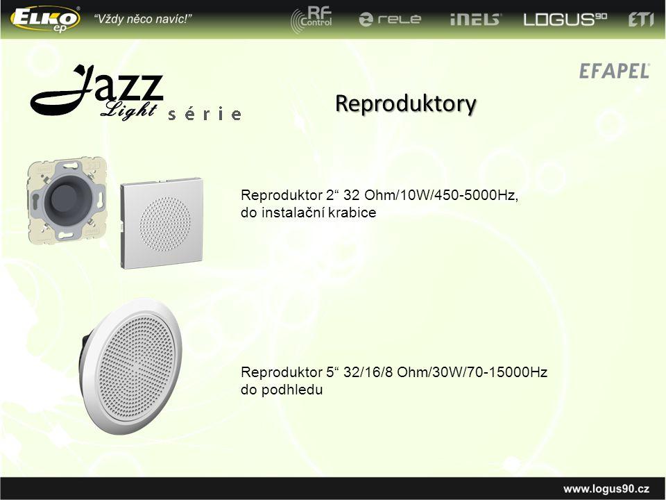 """Reproduktory Reproduktor 2"""" 32 Ohm/10W/450-5000Hz, do instalační krabice Reproduktor 5"""" 32/16/8 Ohm/30W/70-15000Hz do podhledu"""