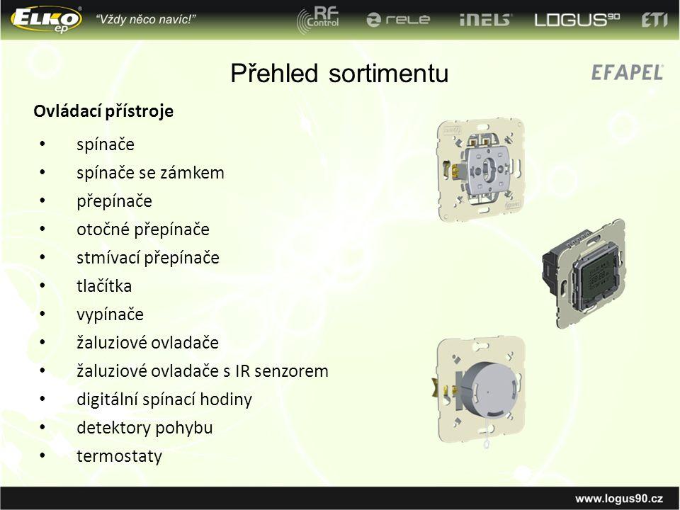 spínače spínače se zámkem přepínače otočné přepínače stmívací přepínače tlačítka vypínače žaluziové ovladače žaluziové ovladače s IR senzorem digitáln