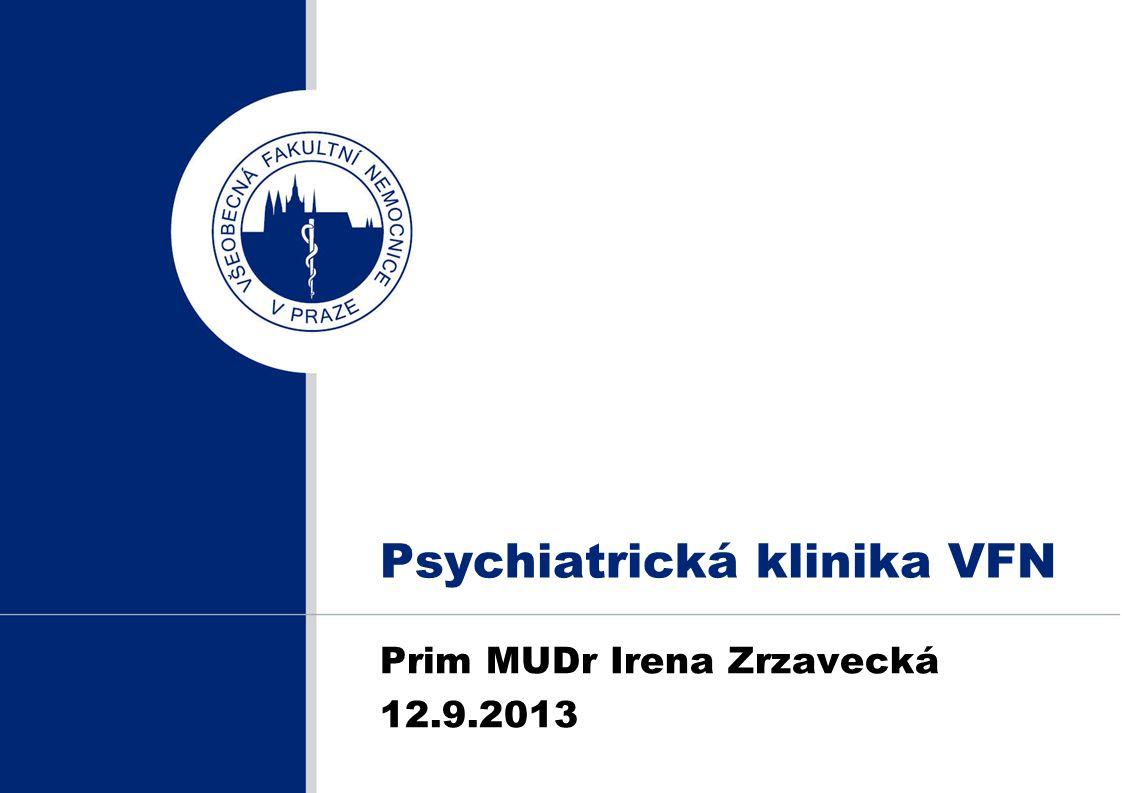 Psychiatrická klinika VFN Prim MUDr Irena Zrzavecká 12.9.2013