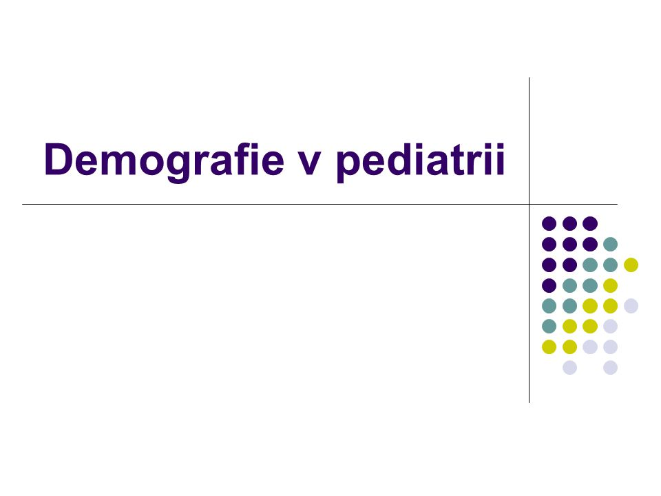 Demografie v pediatrii