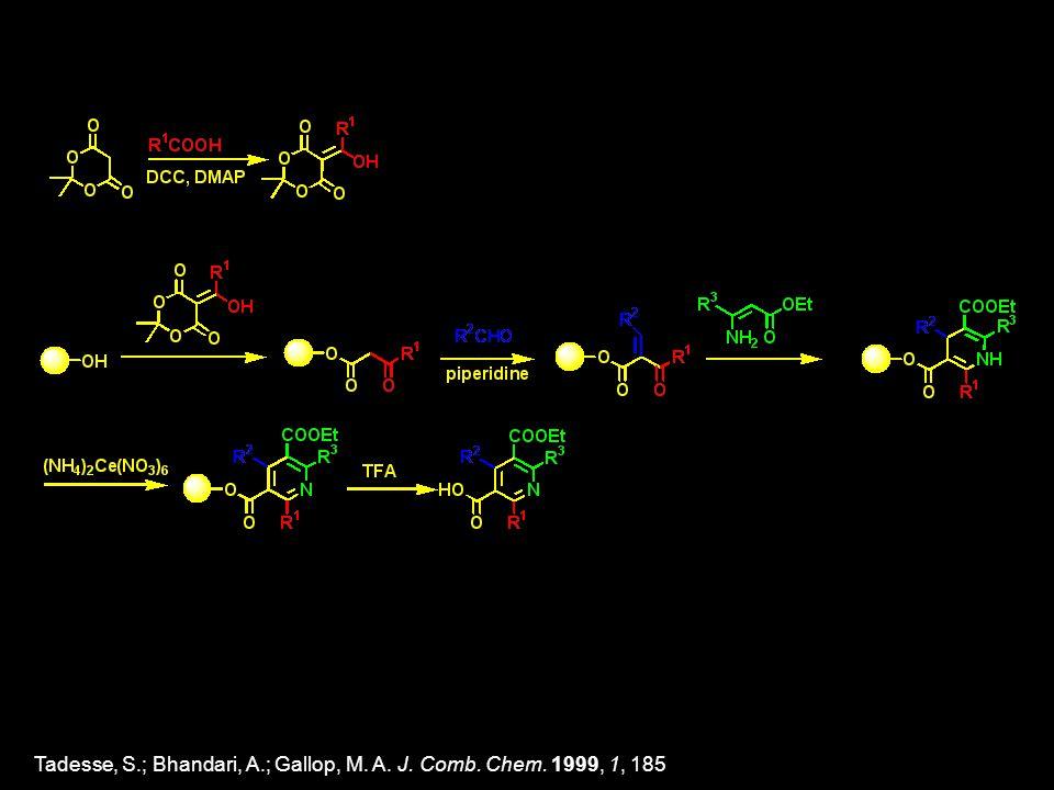 Tadesse, S.; Bhandari, A.; Gallop, M. A. J. Comb. Chem. 1999, 1, 185