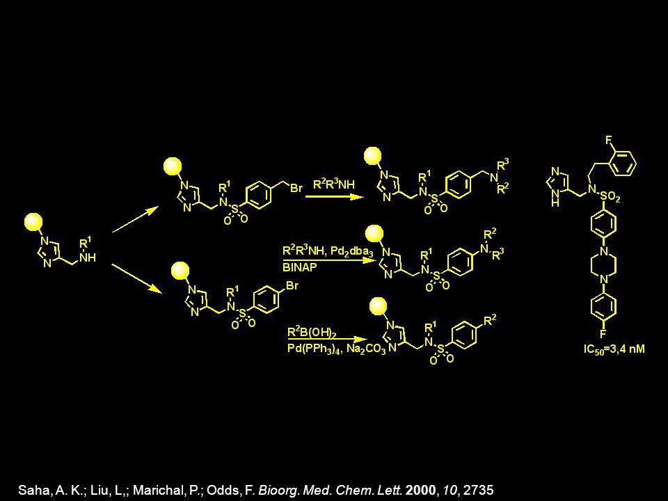 Saha, A. K.; Liu, L,; Marichal, P.; Odds, F. Bioorg. Med. Chem. Lett. 2000, 10, 2735