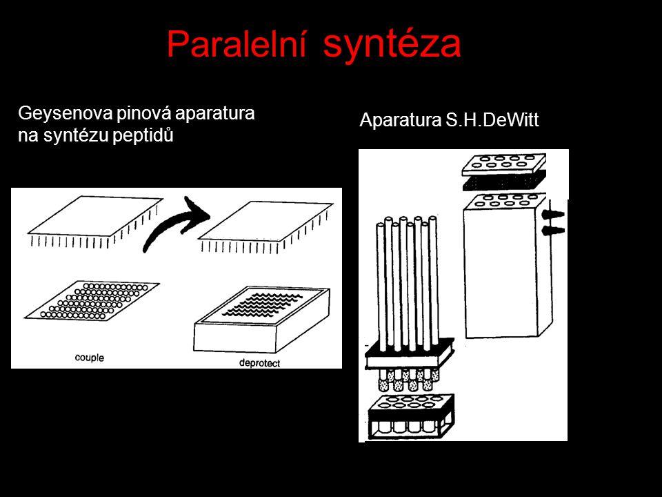 Paralelní syntéza Geysenova pinová aparatura na syntézu peptidů Aparatura S.H.DeWitt
