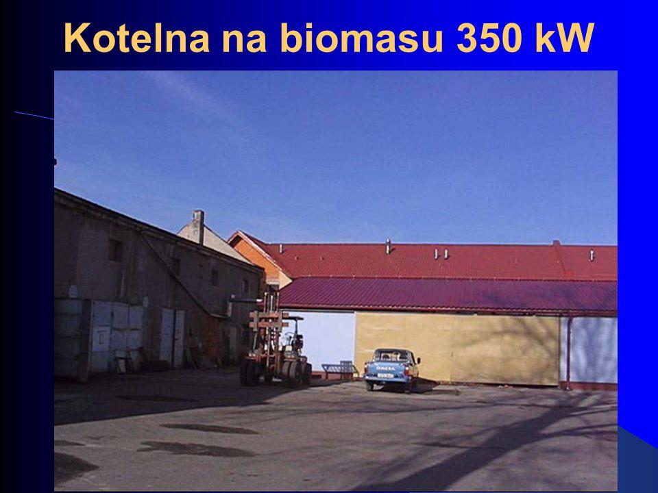 Kotelna na biomasu 350 kW