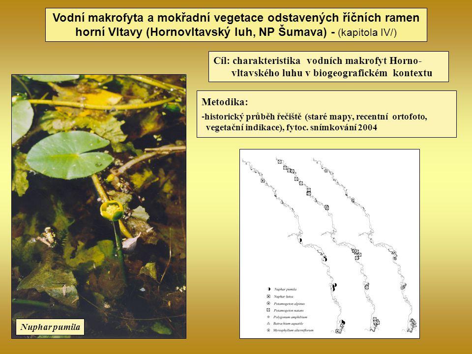 Vodní makrofyta a mokřadní vegetace odstavených říčních ramen horní Vltavy (Hornovltavský luh, NP Šumava) - (kapitola IV/) Metodika: -historický průbě