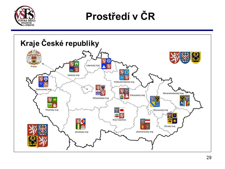 29 Kraje České republiky Prostředí v ČR