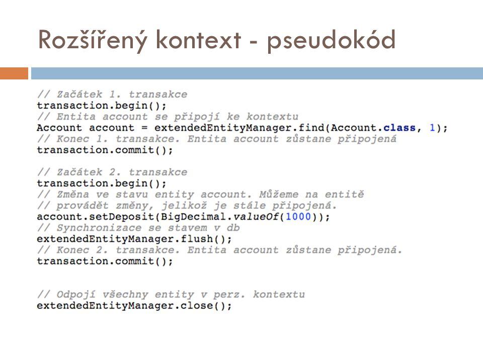 Rozšířený kontext - pseudokód