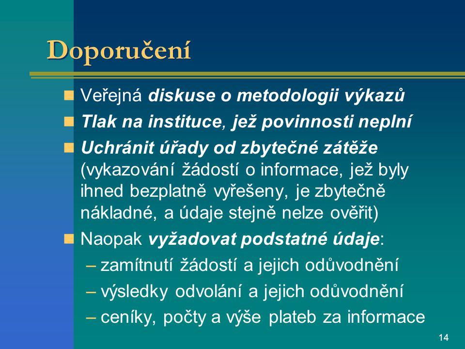 13 Závěry Zákon 106/99 Sb.