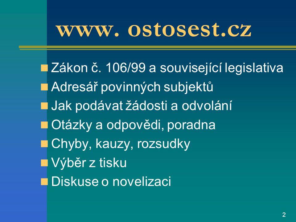 1 Právo na informace Projekt - Otevřená společnost, o.p.s.