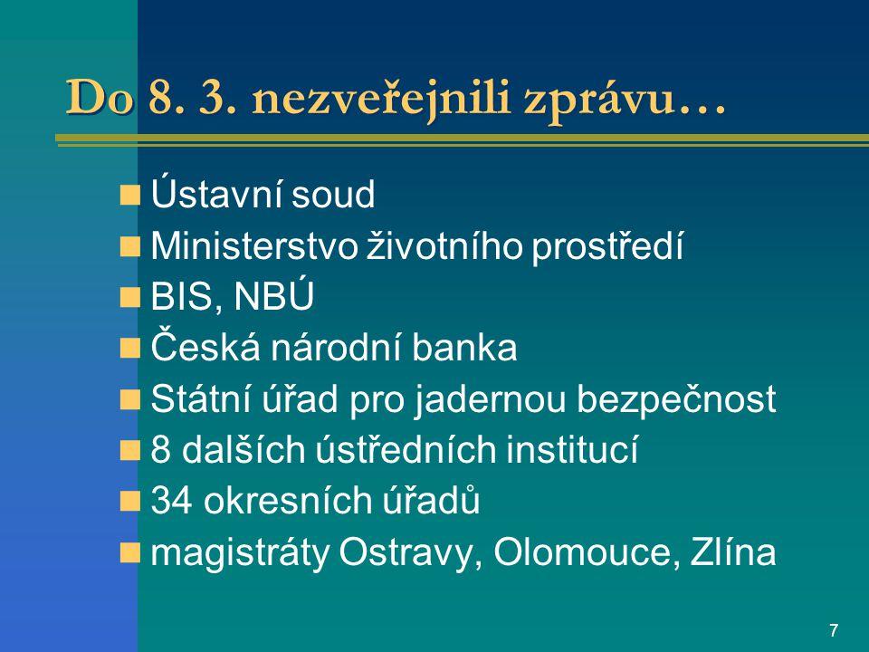 6 Povinné zprávy na internetu k 8. 3.