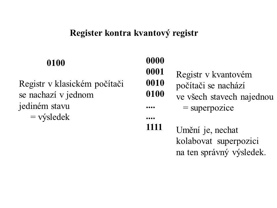 Register kontra kvantový registr 0100 0000 0001 0010 0100....