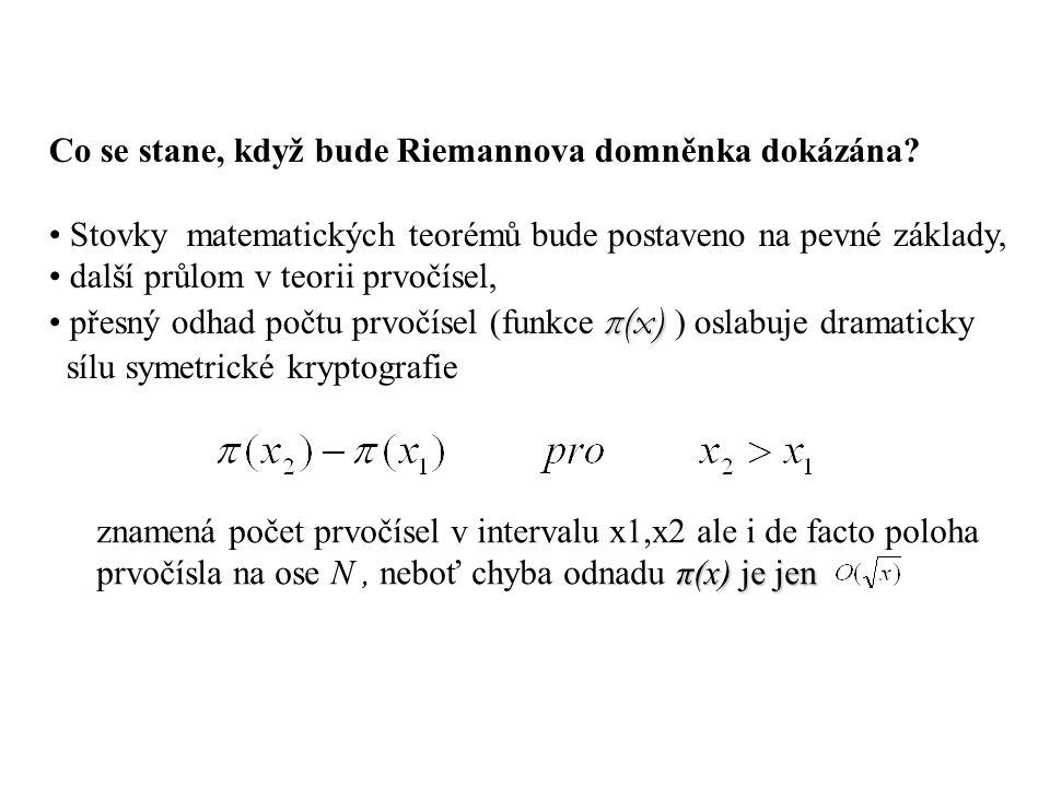 Co se stane, když bude Riemannova domněnka dokázána.