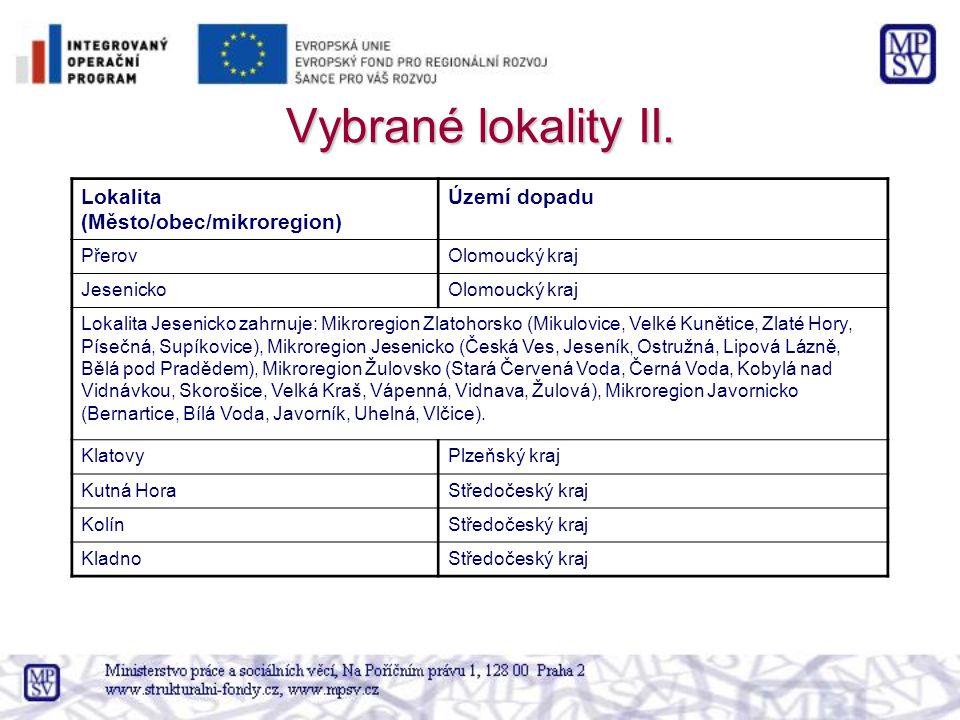 Vybrané lokality II.