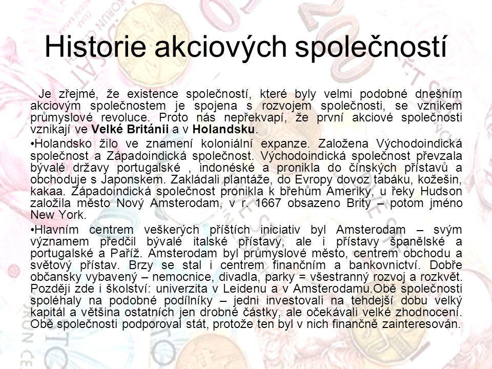 Historie akciových společností Britská východoindická společnost.