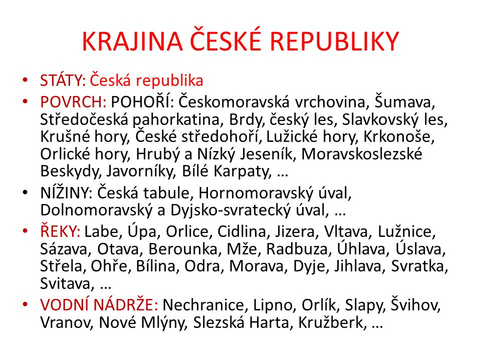 KRAJINA ČESKÉ REPUBLIKY Obr. 2