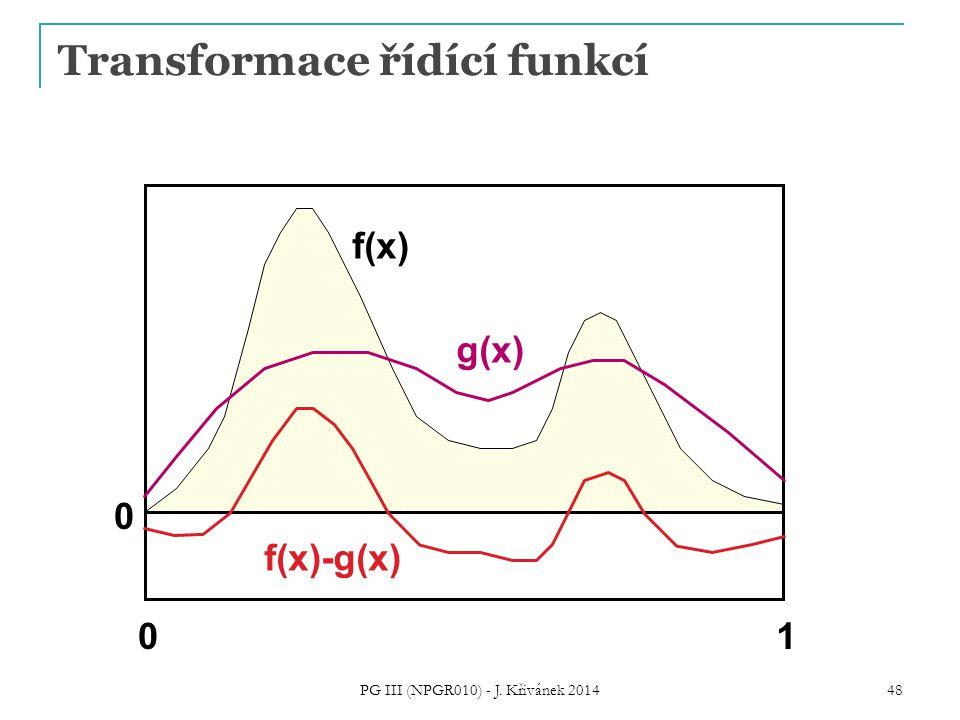 Transformace řídící funkcí f(x) 01 0 g(x) f(x)-g(x) PG III (NPGR010) - J. Křivánek 2014 48