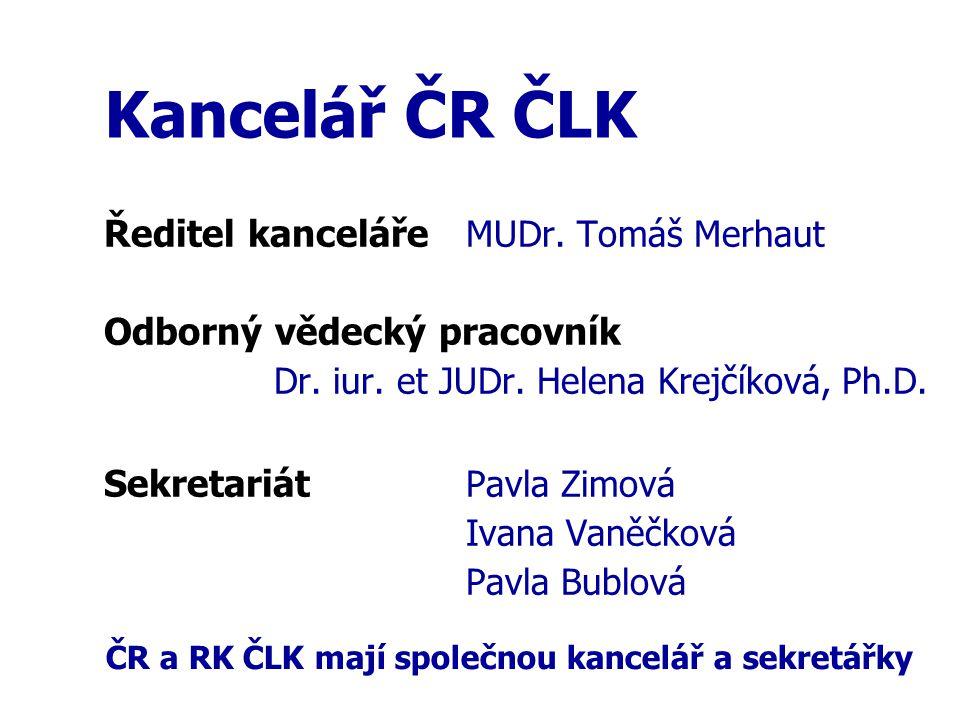 Zpráva o činnosti ČR ČLK Závěr (3) Čestná rada ČLK děkuje všem spolupracovníkům z okresních i centrálních orgánů ČLK za dobrou a korektní spolupráci