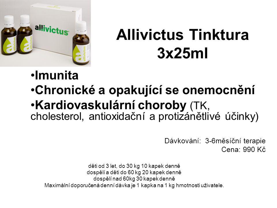 Allivictus Tinktura 3x25ml Imunita Chronické a opakující se onemocnění Kardiovaskulární choroby (TK, cholesterol, antioxidační a protizánětlivé účinky
