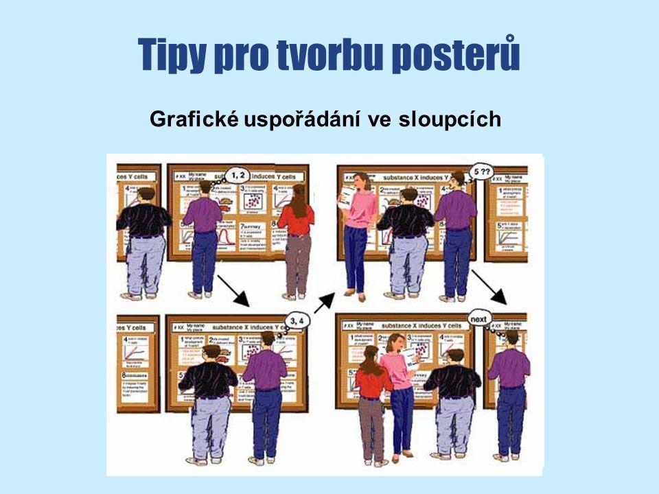 Tipy pro tvorbu posterů Grafické uspořádání ve sloupcích
