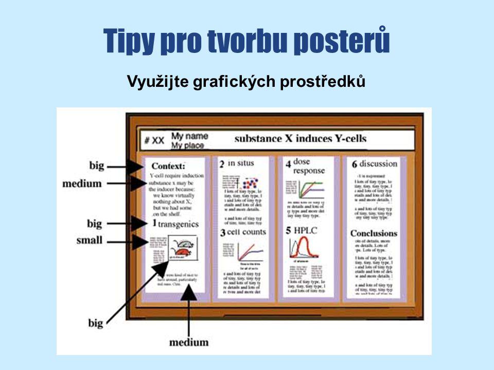 Tipy pro tvorbu posterů Využijte grafických prostředků