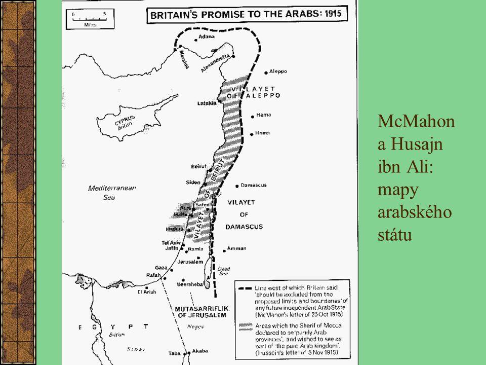 McMahon a Husajn ibn Ali: mapy arabského státu