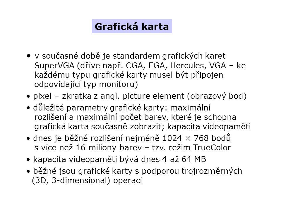 Grafická karta v současné době je standardem grafických karet SuperVGA (dříve např.