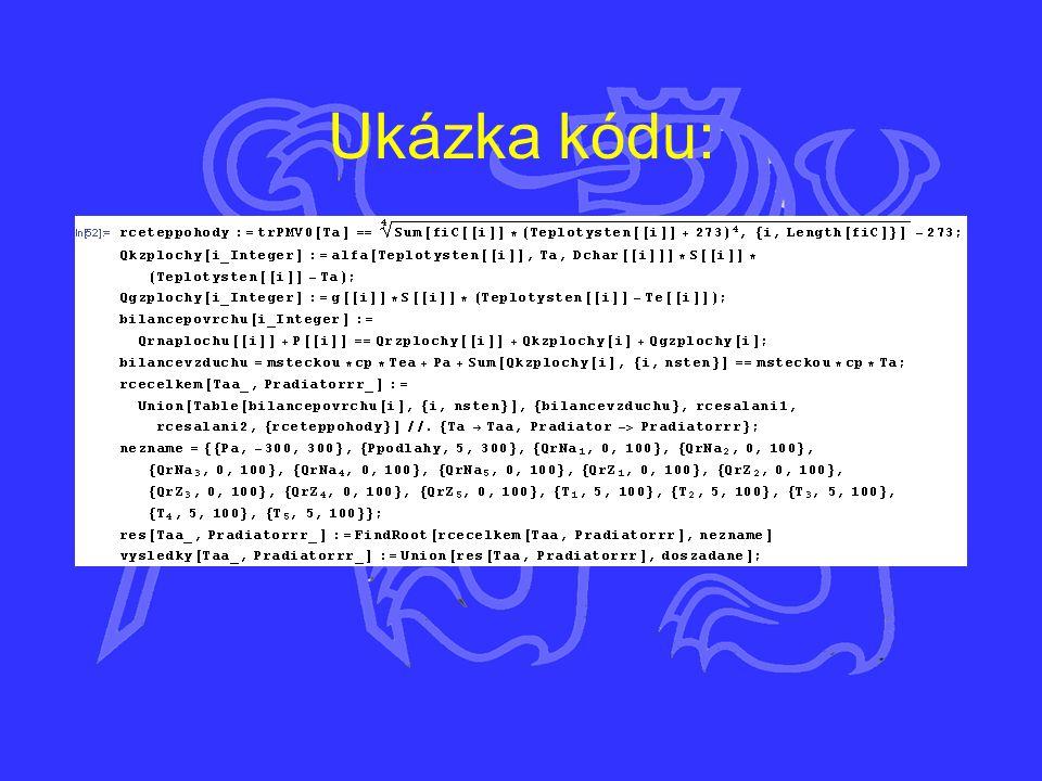 Ukázka kódu: