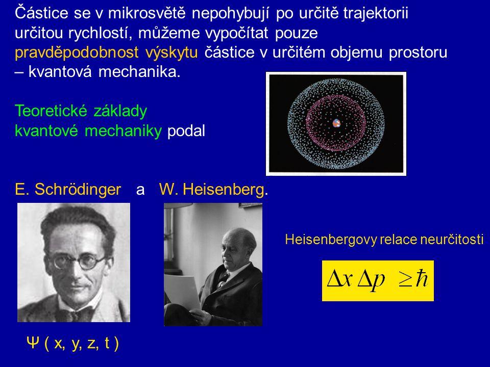 Difrakce neutronů na krystalu NaCl Později byly provedeny další experimenty v nichž nejen elektrony, ale i protony, neutrony a atomy projevovaly vlnové vlastnosti