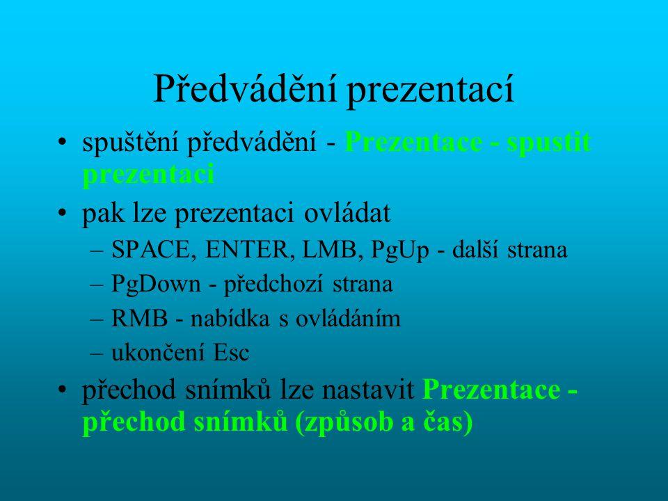 Šablona je zvláštní prezentace, která slouží jako předloha pro jiné prezentace, obsahuje –předlohu –barevné schéma –snímky se vzorovým textem (používa