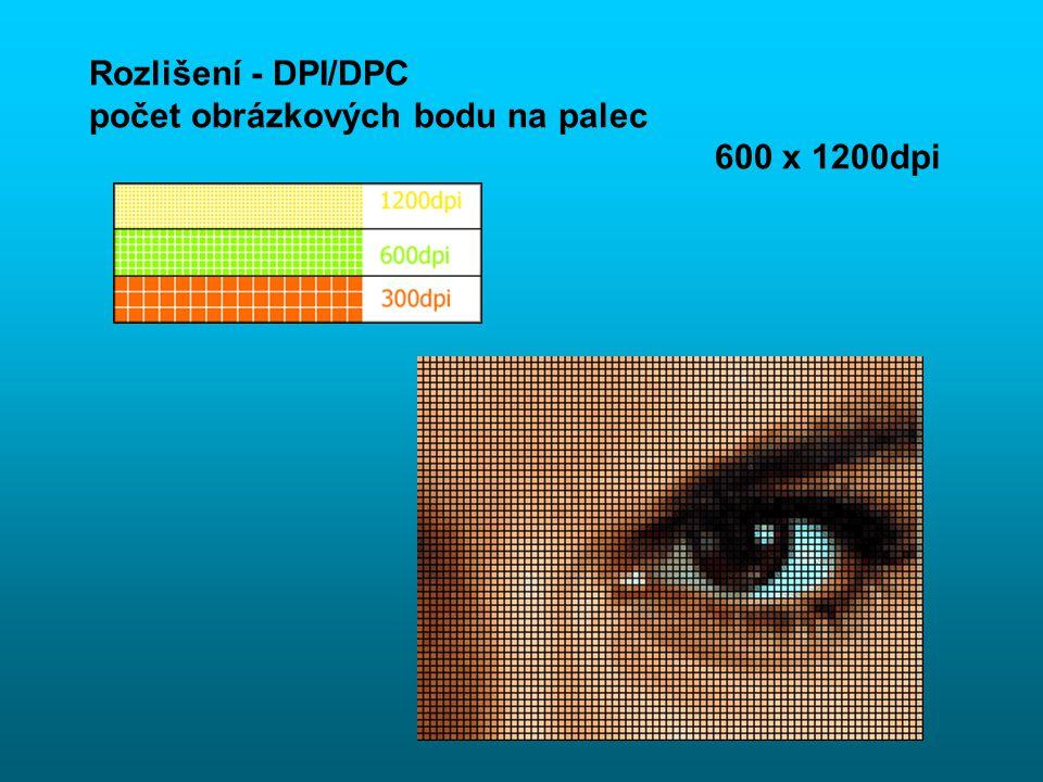 … obrázky,.. - GRAFIKA Pixel –obrázkový bod a hloubka pixelu –počet bitů, barev 8 bit = 256 barev 24 bit = 16,7 mil. Barev Rozlišení – DPI / (LPI) –po
