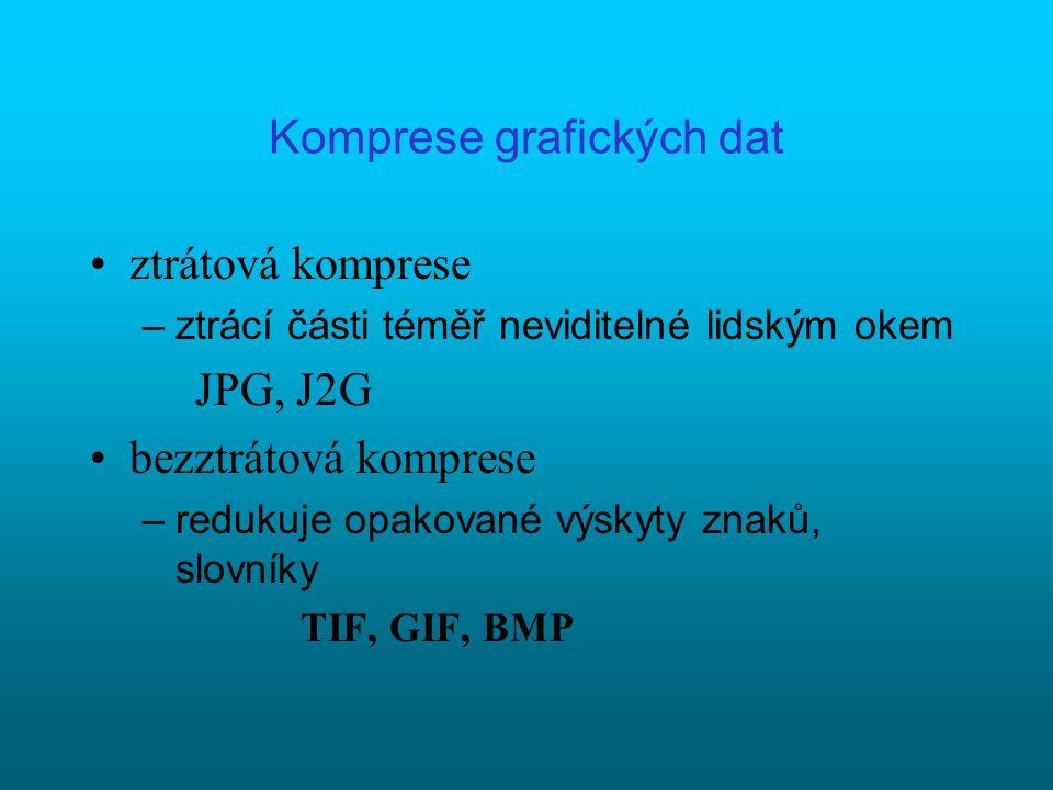Formáty grafických souborů Vektorové např. DXF, VML, PLT, CDR, AI,...