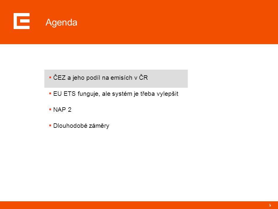 2 Instalovaný příkon elektráren ČEZ v ČR (MW) 12,146 Voda Černé uhlí Lignit Jádro Emise CO 2 jsou z pohledu ČEZ důležité téma, protože provozujeme významnou skupinu uhelných elektráren… Zdroj: ČEZ, a.s.