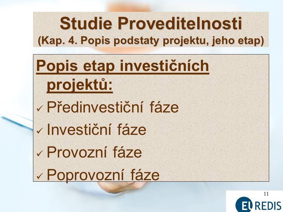 11 Studie Proveditelnosti (Kap.4.