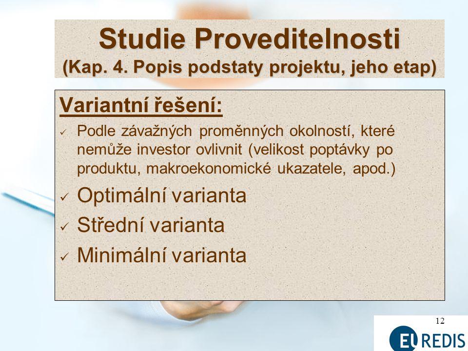 12 Studie Proveditelnosti (Kap.4.