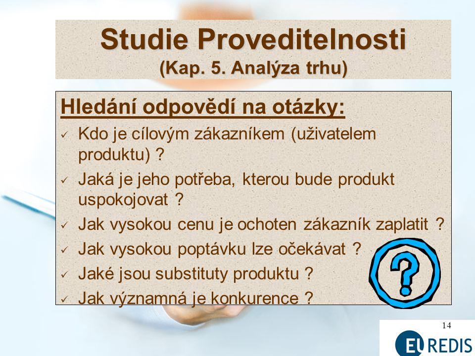 14 Studie Proveditelnosti (Kap.5.