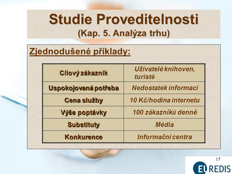 15 Studie Proveditelnosti (Kap.5.
